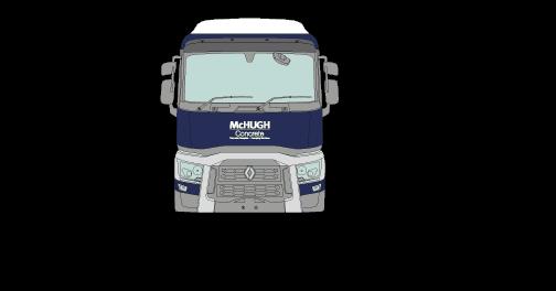 McHugh Concrete Truck Height Width Dimension Diagram